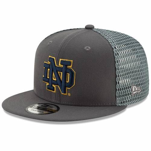 ニューエラ NEW ERA フレッシュ スナップバック バッグ キャップ 帽子 メンズキャップ メンズ 【 Notre Dame Fighting Irish Fresh 9fifty Adjustable Snapback Hat - Graphite 】 Graphite