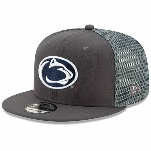 ニューエラ NEW ERA スケートボード ライオンズ フレッシュ スナップバック バッグ キャップ 帽子 メンズキャップ メンズ 【 Penn State Nittany Lions Fresh 9fifty Adjustable Snapback Hat - Graphite 】 Graph