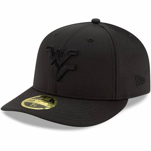 ニューエラ NEW ERA バージニア 黒 ブラック バッグ キャップ 帽子 メンズキャップ メンズ 【 West Virginia Mountaineers Midnight Low Profile 59fifty Fitted Hat - Black 】 Black