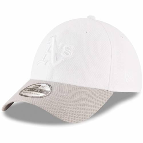 ニューエラ NEW ERA オークランド テック 白 ホワイト バッグ キャップ 帽子 メンズキャップ メンズ 【 Oakland Athletics Tone Tech Redux 2 39thirty Flex Hat - White 】 White