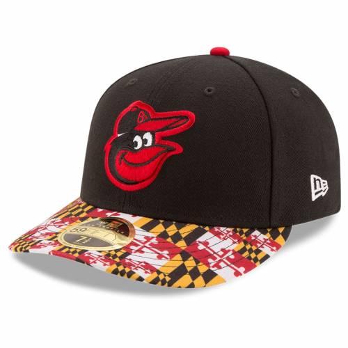 ニューエラ NEW ERA ボルティモア オリオールズ 黒 ブラック バッグ キャップ 帽子 メンズキャップ メンズ 【 Baltimore Orioles Turn Back The Clock Throwback Low Profile 59fifty Fitted Hat - Black 】 Black