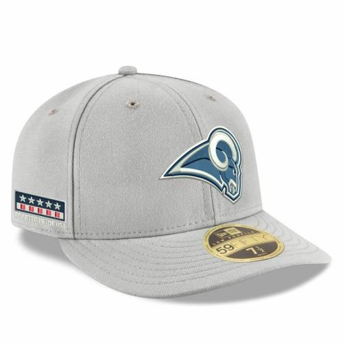 ニューエラ NEW ERA ラムズ 灰色 グレー グレイ バッグ キャップ 帽子 メンズキャップ メンズ 【 Los Angeles Rams Crafted In The Usa Low Profile 59fifty Fitted Hat - Gray 】 Gray