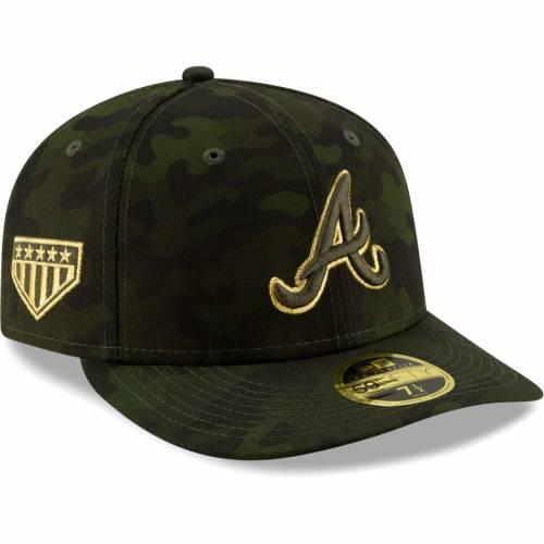 ニューエラ NEW ERA アトランタ ブレーブス バッグ キャップ 帽子 メンズキャップ メンズ 【 Atlanta Braves 2019 Mlb Armed Forces Day On-field Low Profile 59fifty Fitted Hat - Camo 】 Camo