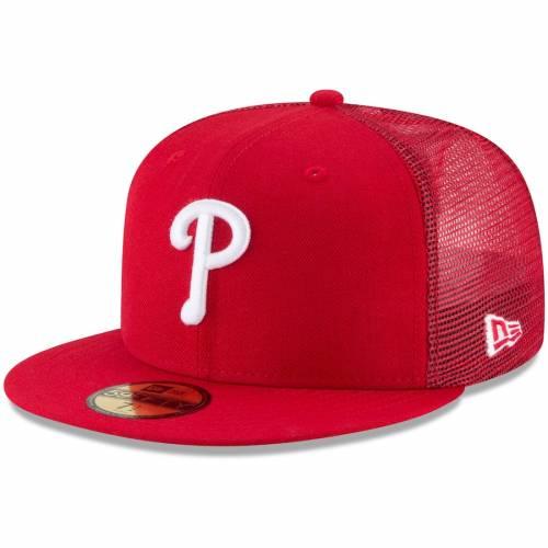 ニューエラ NEW ERA フィラデルフィア フィリーズ 赤 レッド バッグ キャップ 帽子 メンズキャップ メンズ 【 Philadelphia Phillies On-field Replica Mesh Back 59fifty Fitted Hat - Red 】 Red