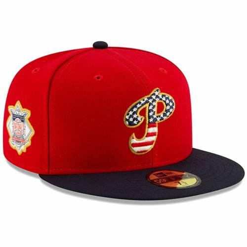 ニューエラ NEW ERA フィラデルフィア フィリーズ バッグ キャップ 帽子 メンズキャップ メンズ 【 Philadelphia Phillies 2019 Stars And Stripes 4th Of July On-field 59fifty Fitted Hat - Red/navy 】 Red/navy