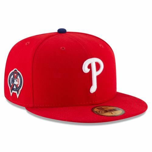 ニューエラ NEW ERA フィラデルフィア フィリーズ 赤 レッド バッグ キャップ 帽子 メンズキャップ メンズ 【 Philadelphia Phillies 9/11 Remembrance Sidepatch 59fifty Fitted Hat - Red 】 Red