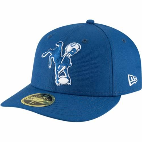 ニューエラ NEW ERA インディアナポリス コルツ バッグ キャップ 帽子 メンズキャップ メンズ 【 Indianapolis Colts Omaha Throwback Low Profile 59fifty Fitted Hat - Royal 】 Royal