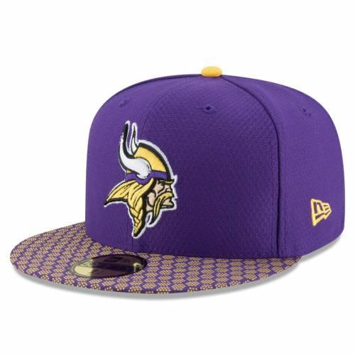 ニューエラ NEW ERA ミネソタ バイキングス サイドライン 紫 パープル バッグ キャップ 帽子 メンズキャップ メンズ 【 Minnesota Vikings 2017 Sideline Official 59fifty Fitted Hat - Purple 】 Purple