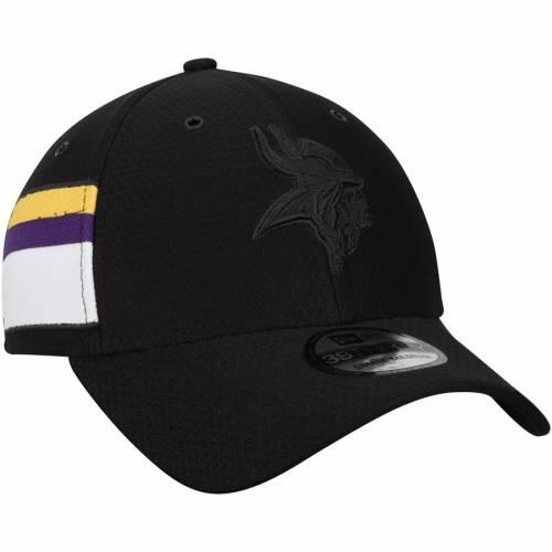 ニューエラ NEW ERA ミネソタ バイキングス リベンジ 黒 ブラック バッグ キャップ 帽子 メンズキャップ メンズ 【 Minnesota Vikings Kickoff Reverse 39thirty Flex Hat - Black 】 Black