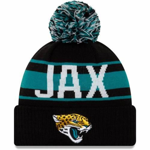 ニューエラ NEW ERA ジャクソンビル ジャガース ニット 黒 ブラック バッグ キャップ 帽子 メンズキャップ メンズ 【 Jacksonville Jaguars Retro Redux Cuffed Knit Hat - Black 】 Black