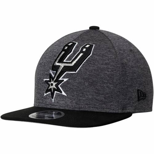 ニューエラ NEW ERA スパーズ ロゴ スナップバック バッグ キャップ 帽子 メンズキャップ メンズ 【 San Antonio Spurs Huge Logo 9fifty Adjustable Snapback Hat - Heathered Graphite/black 】 Heathered Graphite/black