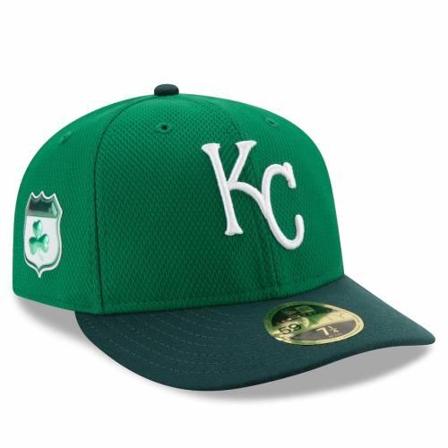 ニューエラ NEW ERA カンザス シティ ロイヤルズ ダイヤモンド 緑 グリーン St. バッグ キャップ 帽子 メンズキャップ メンズ 【 Kansas City Royals 2017 St. Patricks Day Diamond Era 59fifty Low Profile Fitted