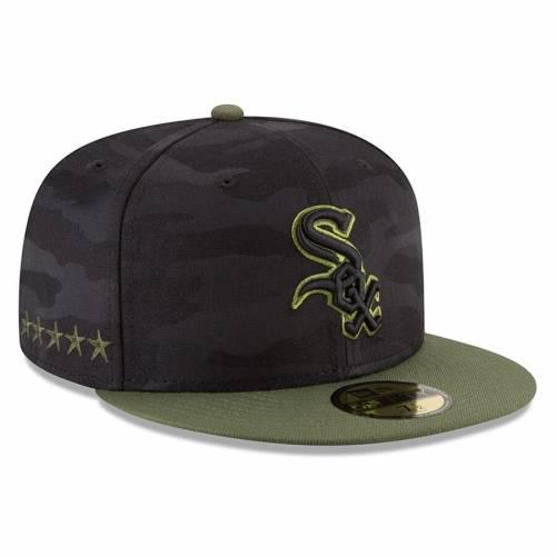 ニューエラ NEW ERA シカゴ 白 ホワイト 黒 ブラック バッグ キャップ 帽子 メンズキャップ メンズ 【 Chicago White Sox 2018 Memorial Day On-field 59fifty Fitted Hat - Black 】 Black