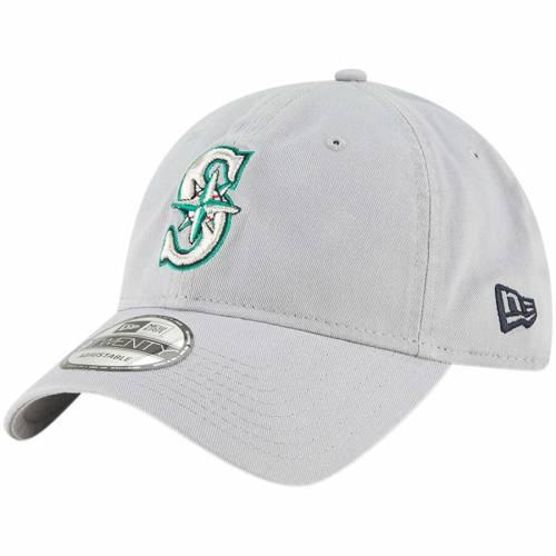 ニューエラ NEW ERA シアトル マリナーズ コア クラシック 灰色 グレー グレイ バッグ キャップ 帽子 メンズキャップ メンズ 【 Seattle Mariners Core Classic Twill 9twenty Adjustable Hat - Gray 】 Gray