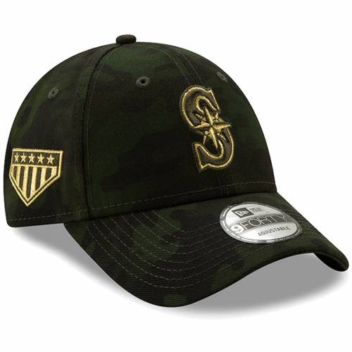 ニューエラ NEW ERA シアトル マリナーズ バッグ キャップ 帽子 メンズキャップ メンズ 【 Seattle Mariners 2019 Mlb Armed Forces Day 9forty Adjustable Hat - Camo 】 Camo