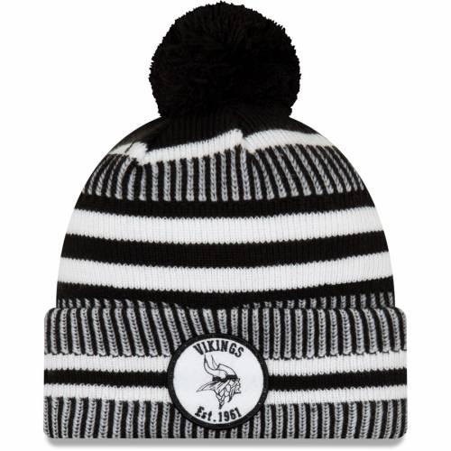 ニューエラ NEW ERA ミネソタ バイキングス サイドライン ニット 黒 ブラック バッグ キャップ 帽子 メンズキャップ メンズ 【 Minnesota Vikings 2019 Nfl Sideline Home Sport Knit Hat - Black 】 Black