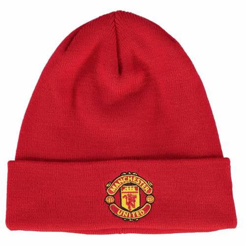 ニューエラ NEW ERA ニット 赤 レッド バッグ キャップ 帽子 メンズキャップ メンズ 【 Manchester United Adult Basic Cuffed Knit Hat - Red 】 Red