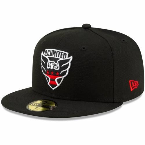 ニューエラ NEW ERA ロゴ 黒 ブラック D.c. バッグ キャップ 帽子 メンズキャップ メンズ 【 D.c. United Primary Logo 59fifty Fitted Hat - Black 】 Black