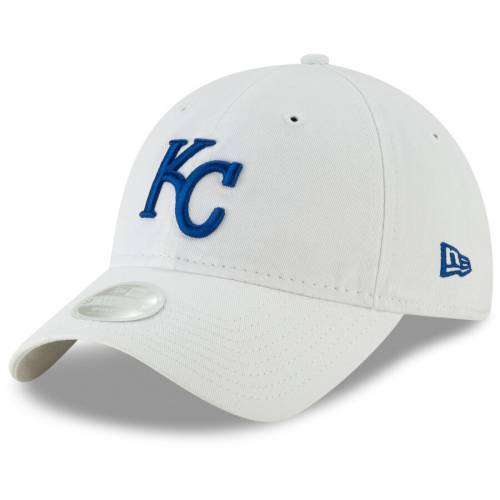 ニューエラ NEW ERA カンザス シティ ロイヤルズ レディース コア クラシック 白 ホワイト バッグ キャップ 帽子 メンズキャップ 【 Kansas City Royals Womens Core Classic 9twenty Adjustable Hat - White 】