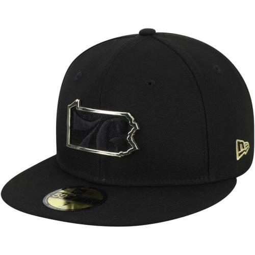 ニューエラ NEW ERA フィラデルフィア セブンティシクサーズ スケートボード メタル 黒 ブラック バッグ キャップ 帽子 メンズキャップ メンズ 【 Philadelphia 76ers State Metal And Thread 59fifty Fit