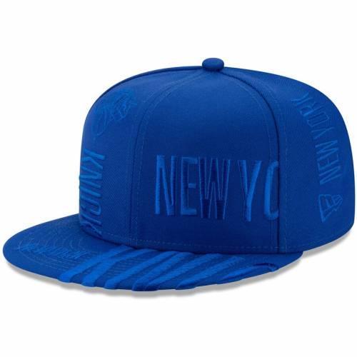ニューエラ NEW ERA ニックス シリーズ チーム スナップバック バッグ 青 ブルー キャップ 帽子 メンズキャップ メンズ 【 New York Knicks 2019 Nba Tip-off Series Team Tonal 9fifty Snapback Hat - Blue 】 Blue