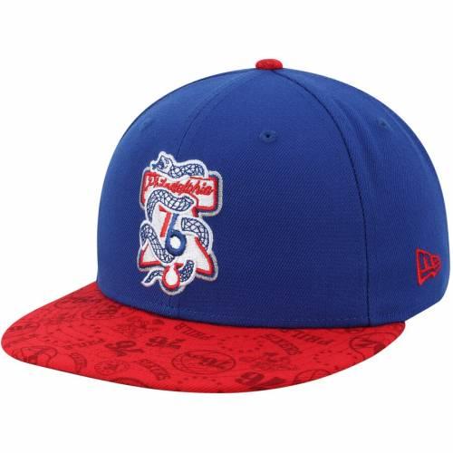 ニューエラ NEW ERA フィラデルフィア セブンティシクサーズ チーム スナップバック バッグ キャップ 帽子 メンズキャップ メンズ 【 Philadelphia 76ers Team Variation 9fifty Snapback Hat - Royal/red 】