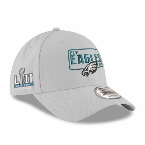 ニューエラ NEW ERA フィラデルフィア イーグルス 灰色 グレー グレイ バッグ キャップ 帽子 メンズキャップ メンズ 【 Philadelphia Eagles Super Bowl Lii Champions License 9forty Adjustable Hat - Gray 】 Gray