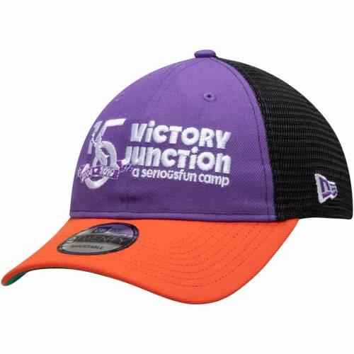 ニューエラ NEW ERA ビクトリー トラッカー スナップバック バッグ キャップ 帽子 メンズキャップ メンズ 【 Bubba Wallace Victory Junction Darlington 9twenty Trucker Snapback Adjustable Hat - Purple/orange 】 Pu