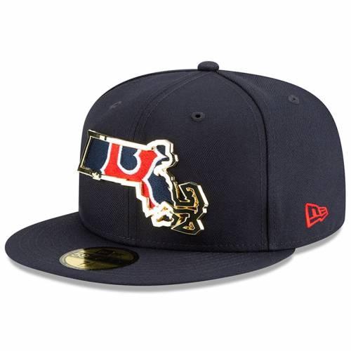 ニューエラ NEW ERA ボストン 赤 レッド メタル スケートボード 紺 ネイビー バッグ キャップ 帽子 メンズキャップ メンズ 【 Boston Red Sox Metal And Thread State 59fifty Fitted Hat - Navy 】 Navy