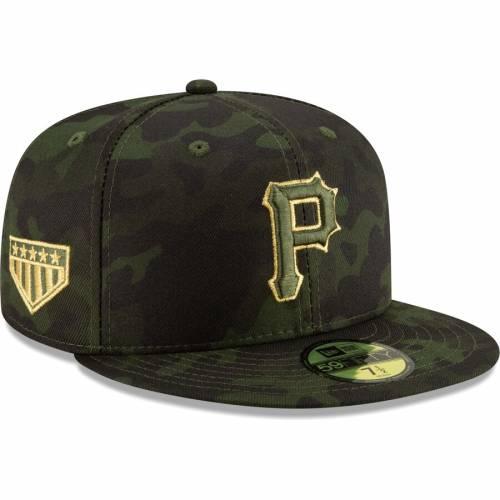 ニューエラ NEW ERA ピッツバーグ 海賊団 バッグ キャップ 帽子 メンズキャップ メンズ 【 Pittsburgh Pirates 2019 Mlb Armed Forces Day On-field 59fifty Fitted Hat - Camo 】 Camo