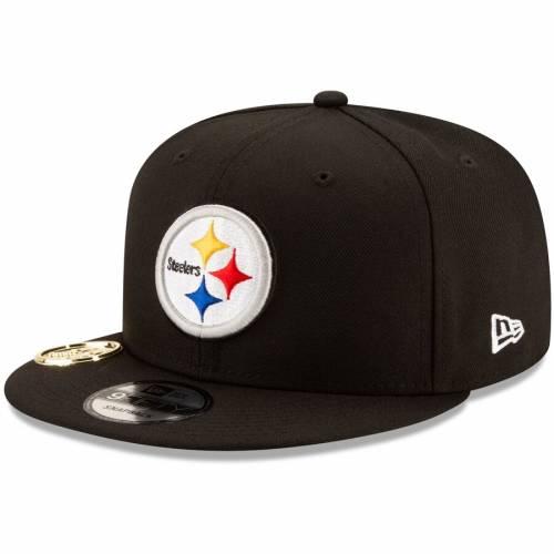 ニューエラ NEW ERA ピッツバーグ スティーラーズ メタル スナップバック バッグ 黒 ブラック キャップ 帽子 メンズキャップ メンズ 【 Pittsburgh Steelers Metal Duel 9fifty Snapback Hat - Black 】 Black