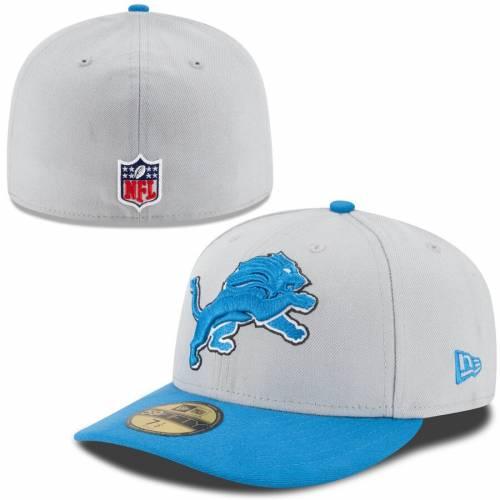 ニューエラ NEW ERA デトロイト ライオンズ 青 ブルー バッグ キャップ 帽子 メンズキャップ メンズ 【 Detroit Lions On-field Low Crown 59fifty Fitted Hat - Gray/light Blue 】 Gray/light Blue