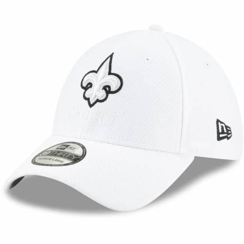ニューエラ NEW ERA セインツ サイドライン プラチナム 白 ホワイト バッグ キャップ 帽子 メンズキャップ メンズ 【 New Orleans Saints 2019 Nfl Sideline Platinum 39thirty Flex Hat - White 】 White