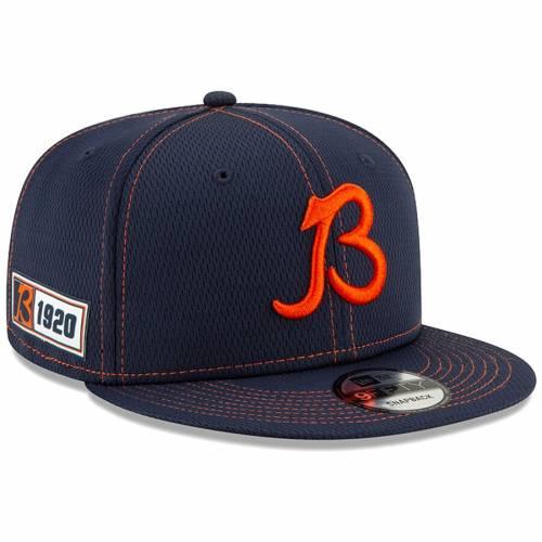 ニューエラ NEW ERA シカゴ ベアーズ サイドライン ロゴ スナップバック バッグ 紺 ネイビー キャップ 帽子 メンズキャップ メンズ 【 Chicago Bears 2019 Nfl Sideline Road Official B Logo 9fifty Snapback A