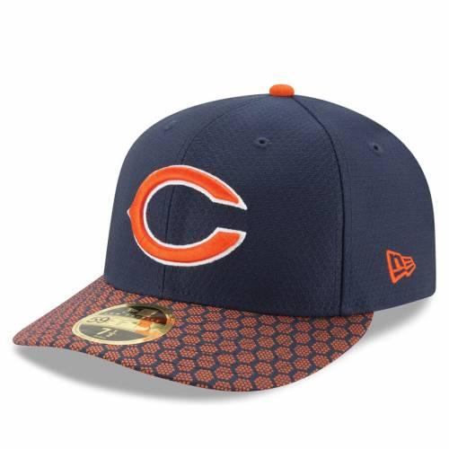 ニューエラ NEW ERA シカゴ ベアーズ サイドライン 紺 ネイビー バッグ キャップ 帽子 メンズキャップ メンズ 【 Chicago Bears 2017 Sideline Official Low Profile 59fifty Fitted Hat - Navy 】 Navy