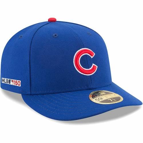 ニューエラ NEW ERA シカゴ カブス オーセンティック コレクション バッグ キャップ 帽子 メンズキャップ メンズ 【 Chicago Cubs Mlb 150th Anniversary Authentic Collection Low Profile 59fifty Fitted Hat - Royal