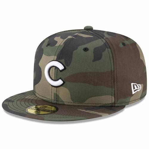ニューエラ NEW ERA シカゴ カブス ウッドランド バッグ キャップ 帽子 メンズキャップ メンズ 【 Chicago Cubs Woodland Camo Basic 59fifty Fitted Hat - Camo 】 Camo