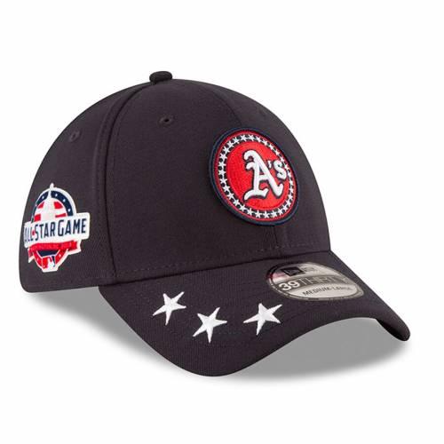 ニューエラ NEW ERA オークランド ワークアウト 紺 ネイビー バッグ キャップ 帽子 メンズキャップ メンズ 【 Oakland Athletics 2018 Mlb All-star Workout 39thirty Flex Hat - Navy 】 Navy