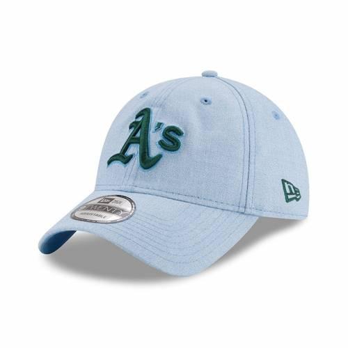 ニューエラ NEW ERA オークランド 青 ブルー バッグ キャップ 帽子 メンズキャップ メンズ 【 Oakland Athletics 2018 Fathers Day 9twenty Adjustable Hat - Light Blue 】 Light Blue