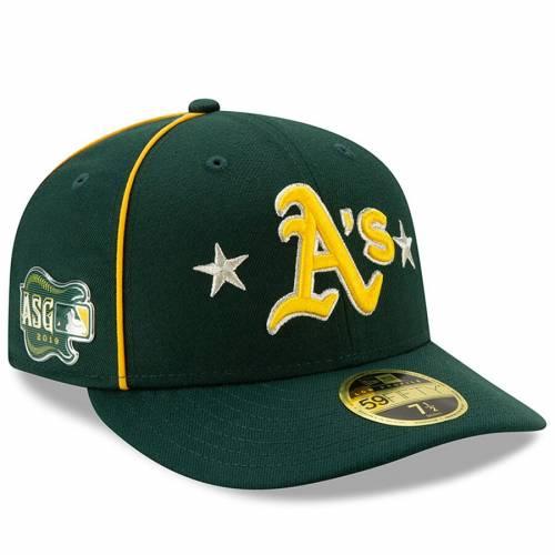 ニューエラ NEW ERA オークランド ゲーム 緑 グリーン バッグ キャップ 帽子 メンズキャップ メンズ 【 Oakland Athletics 2019 Mlb All-star Game On-field Low Profile 59fifty Fitted Hat - Green 】 Green