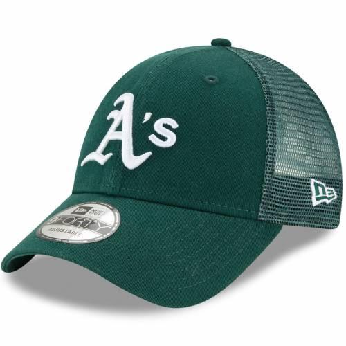 ニューエラ NEW ERA オークランド トラッカー スナップバック バッグ 緑 グリーン キャップ 帽子 メンズキャップ メンズ 【 Oakland Athletics Trucker 9forty Adjustable Snapback Hat - Green 】 Green