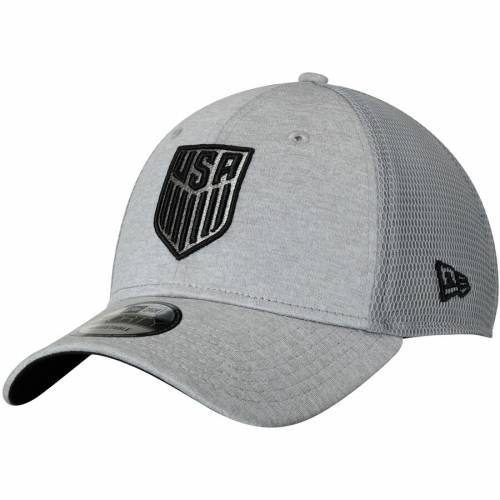 ニューエラ NEW ERA サッカー テック 灰色 グレー グレイ バッグ キャップ 帽子 メンズキャップ メンズ 【 Us Soccer Tech Trim Adjustable Meshback Hat - Gray 】 Gray
