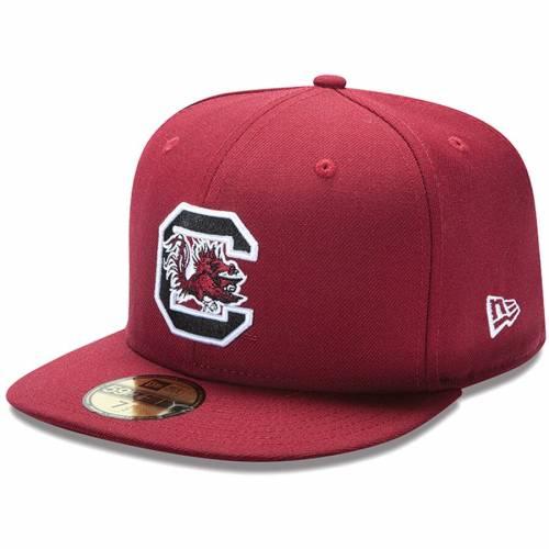 ニューエラ NEW ERA カロライナ バッグ キャップ 帽子 メンズキャップ メンズ 【 South Carolina Gamecocks 59fifty Fitted Hat - Garnet 】 Garnet
