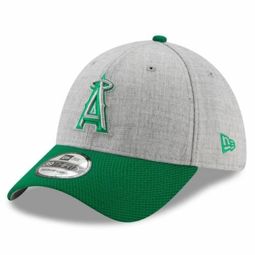 ニューエラ NEW ERA エンジェルス St. バッグ キャップ 帽子 メンズキャップ メンズ 【 Los Angeles Angels St. Patricks Day Change Up Redux 39thirty Flex Hat - Gray/green 】 Gray/green