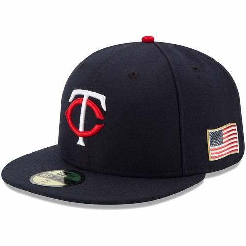 ニューエラ NEW ERA ミネソタ ツインズ オーセンティック 紺 ネイビー バッグ キャップ 帽子 メンズキャップ メンズ 【 Minnesota Twins Authentic 9/11 59fifty Fitted Hat - Navy 】 Navy