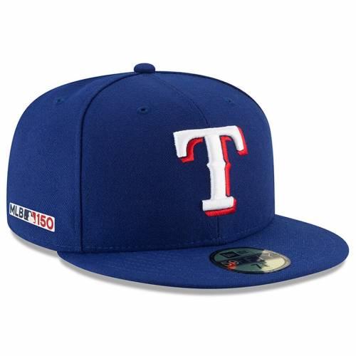 ニューエラ NEW ERA テキサス レンジャーズ オーセンティック コレクション バッグ キャップ 帽子 メンズキャップ メンズ 【 Texas Rangers Mlb 150th Anniversary Authentic Collection 59fifty Fitted Hat - Roya