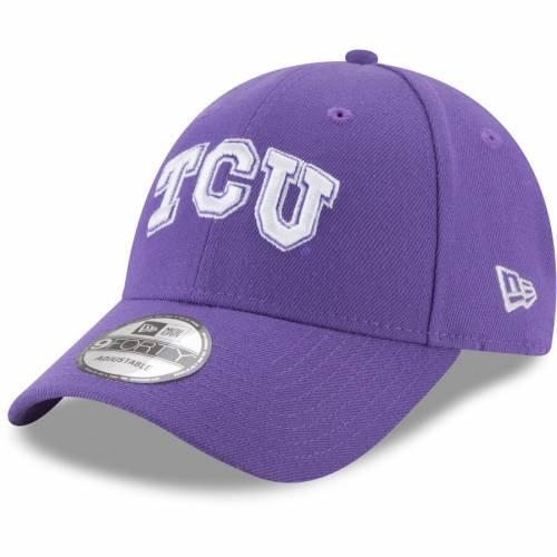 ニューエラ NEW ERA 紫 パープル バッグ キャップ 帽子 メンズキャップ メンズ 【 Tcu Horned Frogs The League 9forty Adjustable Hat - Purple 】 Purple