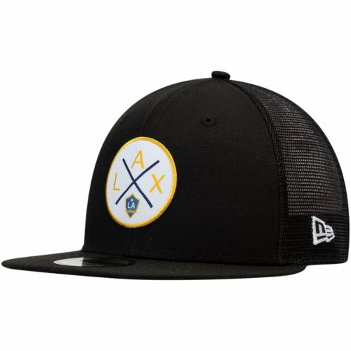 ニューエラ NEW ERA スナップバック バッグ 黒 ブラック キャップ 帽子 メンズキャップ メンズ 【 La Galaxy Quad Patch 9fifty Snapback Hat - Black 】 Black