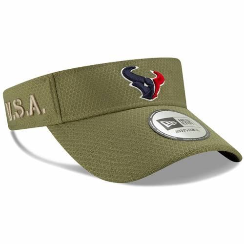 ニューエラ NEW ERA ヒューストン テキサンズ サイドライン オリーブ バッグ キャップ 帽子 メンズキャップ メンズ 【 Houston Texans 2019 Salute To Service Sideline Visor - Olive 】 Olive