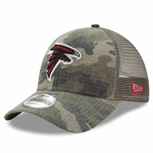 ニューエラ NEW ERA アトランタ ファルコンズ ウッドランド トラッカー スナップバック バッグ キャップ 帽子 メンズキャップ メンズ 【 Atlanta Falcons Woodland Trucker Duel 9forty Adjustable Snapback H